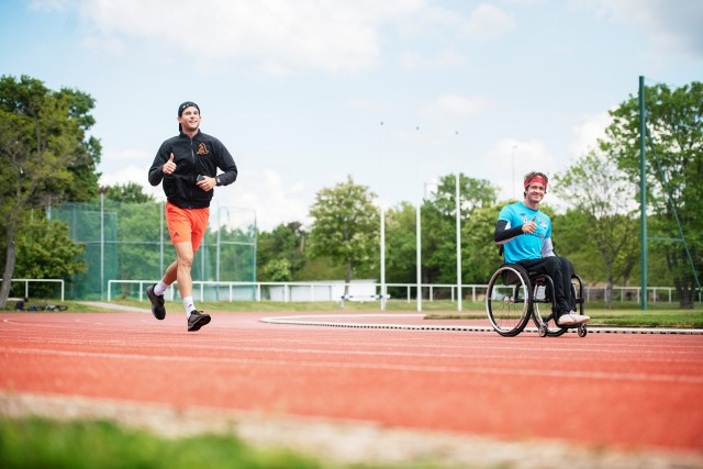 Dominic Thiem and Nico Langmann are seen during the Wings for Life World Run App Run 2020 in Vienna, Austria on May 3, 2020 // Philipp CARL Riedl for Wings for Life World Run // SI202005030169 // Usage for editorial use only //