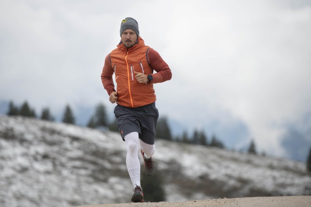 Marcel Hirscher performs during Wings for Life World Run App Run 2020 in Annaberg on May 3, 2020